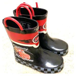 Lightning McQueen Toddler Boys Rainboots